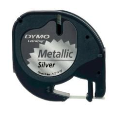 Dymo - Dymo Letratag Metalik Şerit (12 mm. x 4 mt.) Gri (59429) - 10 lu pk.