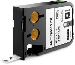 Dymo - Dymo XTL Çok Amaçlı Vinil 12 mmx7 m Beyaz/Siyah