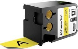 Dymo - Dymo XTL Çok Amaçlı Vinil 41 mmx7 m Sarı/Siyah