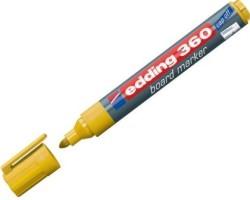 Edding - Edding 360 Beyaz Yazı Tahtası Kalemi Sarı