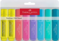 Faber Castell - Faber-Castell 1546 Pastel Fosforlu Kalem 8'li poşet