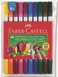 Faber Castell - Faber-Castell Çift Uçlu Keçeli Kalem 10 Renk