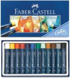 Faber Castell - Faber-Castell Creative Studio Yağlı Pastel Boya 12 Renk