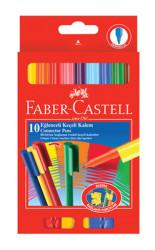 Faber Castell - Faber-Castell Eğlenceli Keçeli Kalem 10'lu