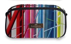 Faber Castell - Faber-Castell Extra Space Kalem Çantası MSÜ Desen Festival
