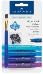 Faber Castell - Faber-Castell Gelato Mum Boya Mavi Tonları 4 renk