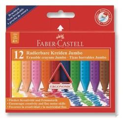 Faber Castell - Faber-Castell Grip Jumbo Mum Boya 12 Renk