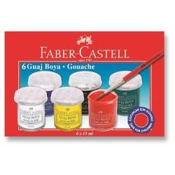 Faber Castell - Faber-Castell Guaj Boya 6 Renk