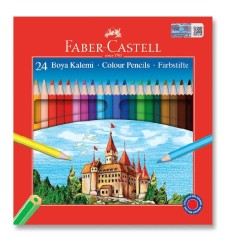 Faber Castell - Faber-Castell Karton Kutu Boya Kalemi 24 Renk