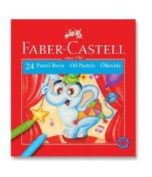 Faber Castell - Faber-Castell Karton Kutu Pastel Boya 24 Renk