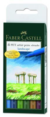 Faber-Castell Pitt Çizim Kalemi Fırça Uç Manzara 6 lı poşet