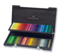 Faber Castell - Faber-Castell Polychromos Kuru Boya Kalemi Ahşap Kutu 120 Renk