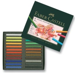 Faber Castell - Faber-Castell Polychromos Pastel Boya 24 Renk - Karton Kutu