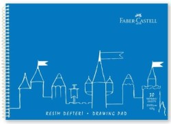 Faber Castell - Faber-Castell PP Kapak Resim Defteri 25x35 cm 30 Yaprak - Mavi