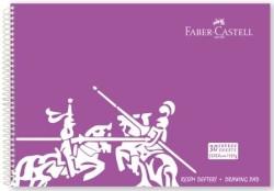 Faber Castell - Faber-Castell PP Kapak Resim Defteri 35x50 cm 30 Yaprak - Mor