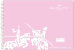 Faber Castell - Faber-Castell PP Kapak Resim Defteri 35x50 cm 30 Yaprak - Pembe