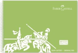 Faber Castell - Faber-Castell PP Kapak Resim Defteri 35x50 cm 30 Yaprak - Yeşil