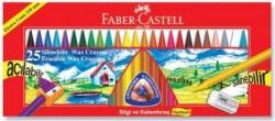 Faber Castell - Faber-Castell Silinebilir Mum Boya 25 Renk