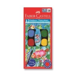 Faber Castell - Faber-Castell Suluboya 12 Renk Küçük Boy