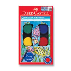 Faber Castell - Faber-Castell Suluboya 8 Renk Küçük Boy