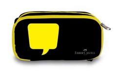 Faber Castell - Faber-Castell Xtra Space Neon Sarı Kalem Çantası
