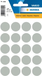 Herma - Herma Vario Yuvarlak Etiket 19mm Gri