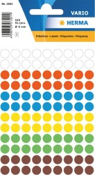Herma - Herma Vario Yuvarlak Etiket 8mm Karışık Renkli