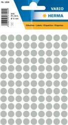 Herma - Herma Vario Yuvarlak Etiket 8mm Koyu Gri