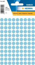 Herma - Herma Vario Yuvarlak Etiket 8mm Mavi