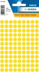 Herma - Herma Vario Yuvarlak Etiket 8mm Sarı