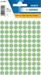 Herma - Herma Vario Yuvarlak Etiket 8mm Yeşil