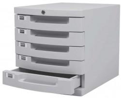 Kraf - Kraf 215G Evrak Rafı Kilitli 5 Çekmeceli