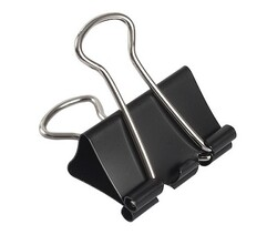 Kraf - Kraf 425G Çelik Kıskaç Siyah 25mm 12li