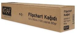 Kraf - Kraf 702G Flipchart Kağıdı Rulo 64x90cm 100 Yaprak