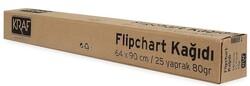 Kraf - Kraf 703G Flipchart Kağıdı Rulo 64x90cm 25 Yaprak