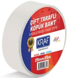 Kraf - Kraf Çift Taraflı Köpük Bant 25mmx5mt