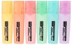 Kraf - Kraf Fosforlu Kalem Pastel Renk 6 lı