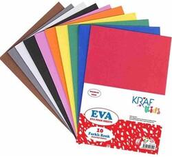 Kraf - Kraf Kids 20x30 2mm Karışık Renk Eva 10lu