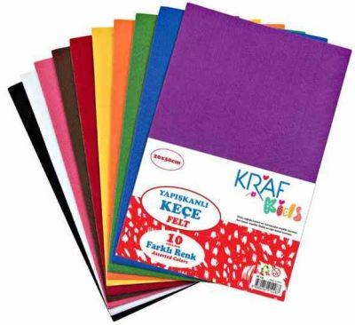 Kraf Kids Keçe 20x30 Yapışkanlı 10 lu