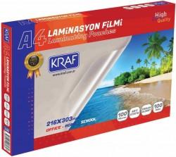 Kraf - Kraf Laminasyon Filmi Parlak A4 100Mic 100 Lük
