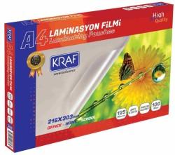 Kraf - Kraf Laminasyon Filmi Parlak A4 125Mic 100 Lük