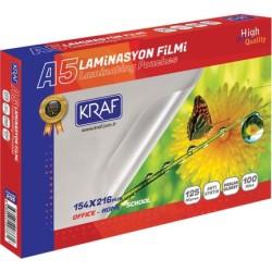 Kraf - Kraf Laminasyon Filmi Parlak A5 125Mic 100 Lük