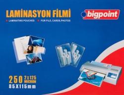 Bigpoint - Bigpoint Laminasyon Filmi 85x115mm 125 Mikron 100 Lük