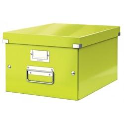 Leitz - Leitz Click & Store Orta Boy Kutu Metalik Yeşil