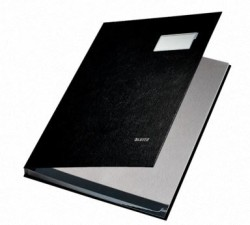 Leitz - Leitz İmza Dosyası PP 10 Bölmeli Siyah