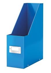 Leitz - Leitz WOW Kutu Klasör Metalik Mavi