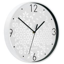 Leitz - Leitz WOW Sessiz Duvar Saati Metalik Beyaz