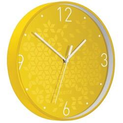 Leitz - Leitz WOW Sessiz Duvar Saati Metalik Sarı