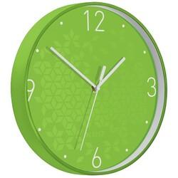 Leitz - Leitz WOW Sessiz Duvar Saati Metalik Yeşil