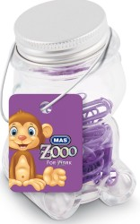 Mas - Mas Zoo - Cam Kavanozda Plastik Kaplı Atas - No:2 - Mor